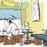 Coffee House Art Print