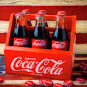 Coke And American Flag Art Print