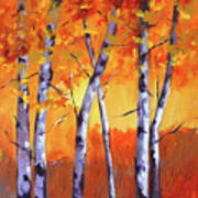 Color Forest Landscape Art Print
