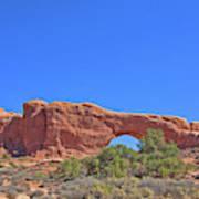 Colorado Arches Rock, Scrub Blue Sky 3397 Art Print