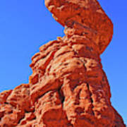 Colorado Arches Spire Scrub Dinosaur Rock? Scrub Blue Sky 3325 Art Print