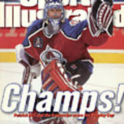 Colorado Avalanche Goalie Patrick Roy, 1996 Nhl Stanley Cup Sports Illustrated Cover Art Print