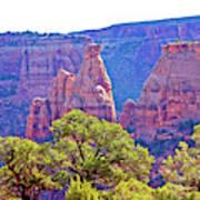 Colorado National Monument Colorado Blue Sky Red Rocks Clouds Trees 2 10212018 2871.jpg Art Print