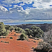 Colorado National Monument Trees Rock Formations Clouds 3001 Art Print