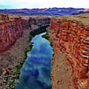 Colorado River From The Navajo Bridge 001 Art Print