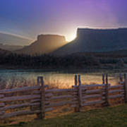 Colorado River Sunrise, Moab, Utah, Usa Art Print