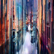 Colorful Canal Art Print