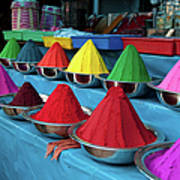 Colorful Dyes At Indian Market Art Print