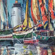 Colorful Harbor Art Print
