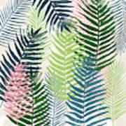 Colorful Palm Leaves 2- Art By Linda Woods Art Print