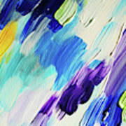 Colorful Rain Fragment 1. Abstract Painting Art Print
