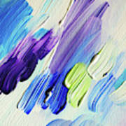 Colorful Rain Fragment 2. Abstract Painting Art Print