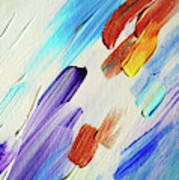 Colorful Rain Fragment 3. Abstract Painting Art Print