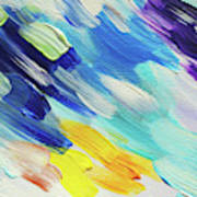 Colorful Rain Fragment 5. Abstract Painting Art Print