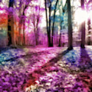 Colorful Trees Xii Art Print
