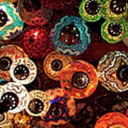 Colorful Turkish Lanterns From The Art Print