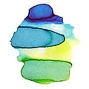 Colorful Watercolor Paint Paper Texture Art Print