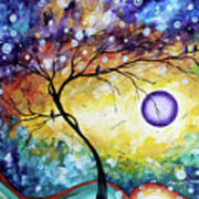 Colorful Whimsical Original Landscape Tree Painting Purple Reign By Megan Duncanson Art Print