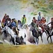 Colors In Buzkash Sport Art Print