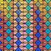 Coloured Glass Window Art Print