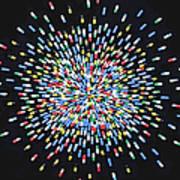 Coloured Medicine Capsules Arranged In Art Print