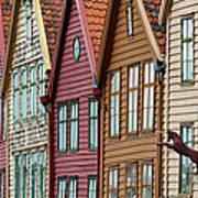 Colourful Houses In A Row Art Print