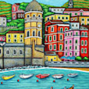 Colours of Vernazza Art Print