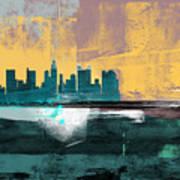 Columbus Abstract Skyline I Art Print