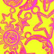Comic Constellation Art Print