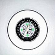 Compass, Overhead View Art Print