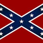 Confederate Stars And Bars T-shirt Art Print