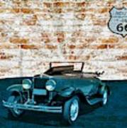 Convertible Vintage Car Art Print