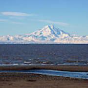 Cook Inlet And The Alaska Range From Ninilchik Art Print