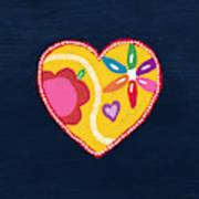 Corazon 4- Art By Linda Woods Art Print