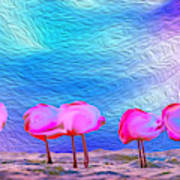 Cotton Candy Trees Art Print