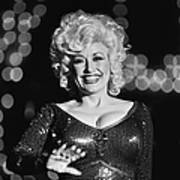 Country Singer Dolly Parton In Concert Art Print