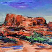 Courthouse Butte Rock - Sedona Art Print