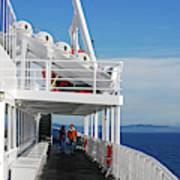 Cozy Walk -  Painterly Ferry To Victoria Art Print