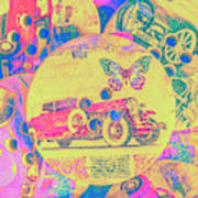 Crafty Car Commercial Art Print