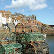 Crail Harbour And Lobster Pots Art Print