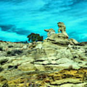 Crazy Rock Formations In New Mexico Art Print