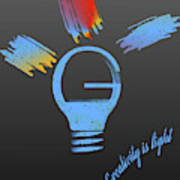 Creativity Is Light Art Print