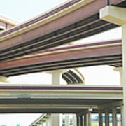 Crisscrossing Freeway Overpasses Art Print