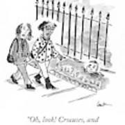Crocuses And Another Democrat Art Print