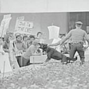 Crowd Protesting President Nixon Art Print