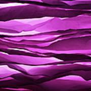Crumpled Sheets Of Purple Paper Art Print