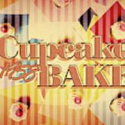 Cupcake Bake 1958 Art Print