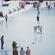 Curling At St. Moritz Art Print