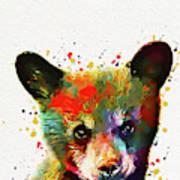 Cute Baby Bear Art Print