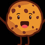 Cute Cookie For Cooke Lovers Men Women And Kids Art Print